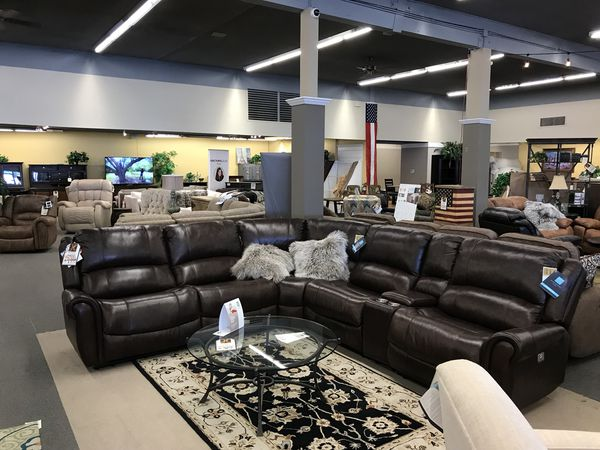 Brazen All Leather Sectional Flexsteel Hafers Home Furnishings