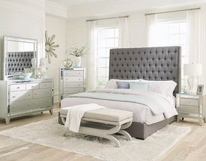 4-Pc Queen size Upholstered bedroom set. Special offer for Sale in Orlando, FL