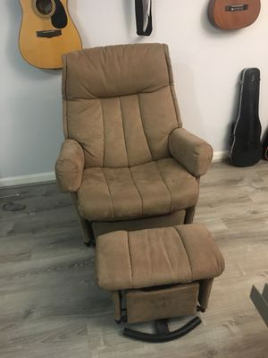 Reclining Chair with Ottoman for Sale in Falls Church, VA