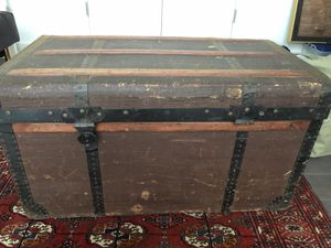 This is a very old trunk from Romania. Somehow it got to Switzerland where my family used to live. I took it along on my household on my different po for Sale in Washington, DC