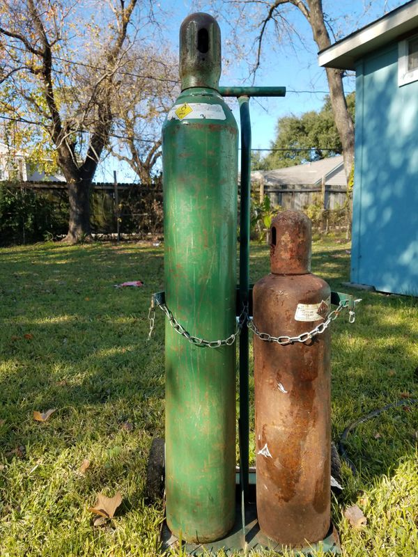 Oxygen & Acetylene Tank With Cart for Sale in Houston, TX - OfferUp