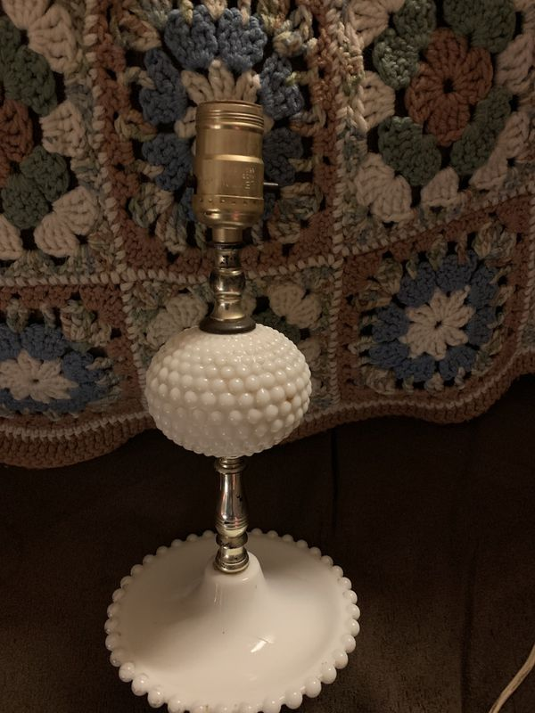 Vintage Electric Milk Glass Lamp