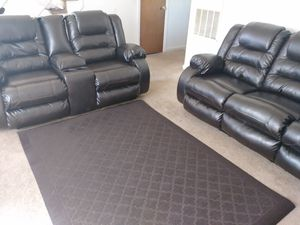 Brown reclining sofas for Sale in Chase City, VA