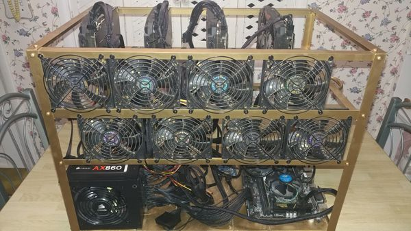 Cryptocurrency 8 gpu rx580 mining rig red dragon etherium for Sale in Saint  Clair, MI - OfferUp