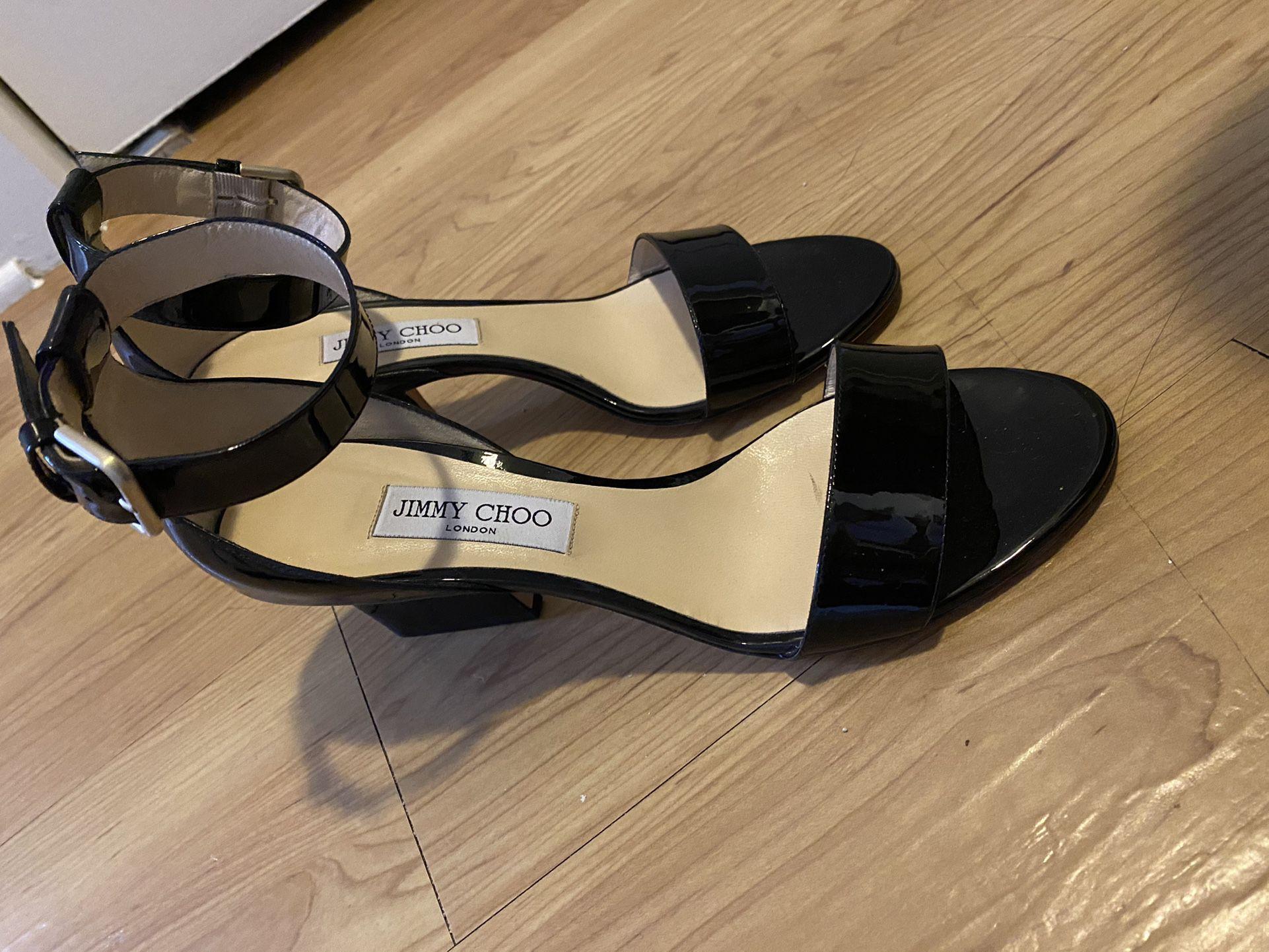 Jimmy Choo Black Wedge Heels