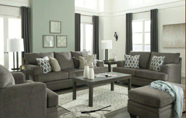 🐶same Day And Free Delivery 🍒Dorsten Slate Living Room Set 🥫