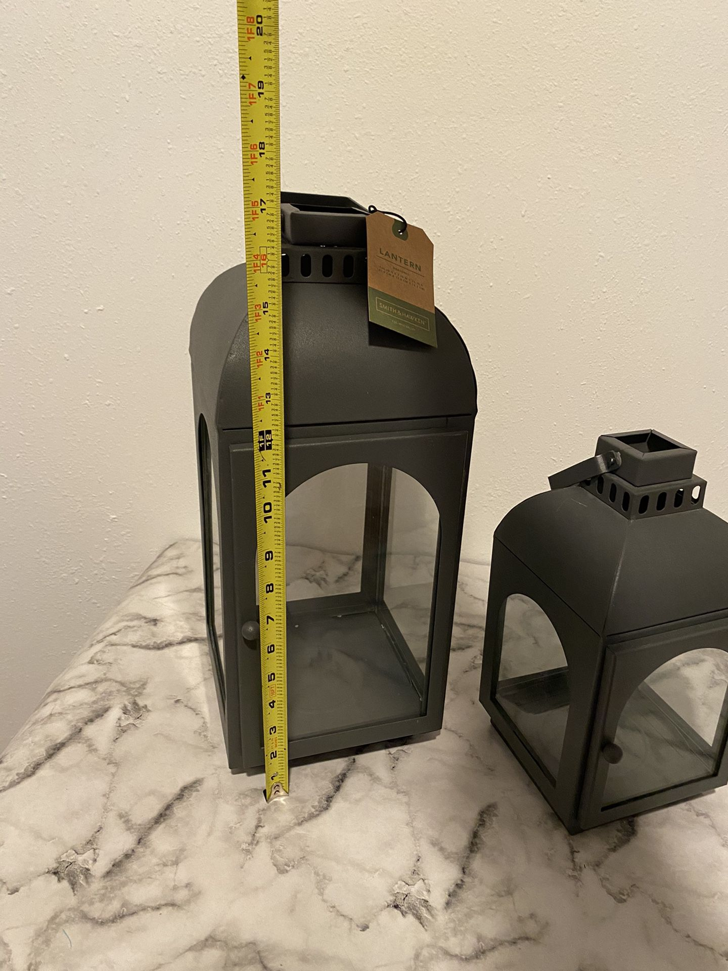 Set Of Two Smith And Hawken Matching Lanterns