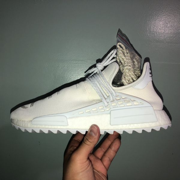 "7c88067e62cd7 Adidas human race NMD Pharrell Williams ""Blank canvas"" size (11). In men s  worn 2x excellent condition. 100% authentic."