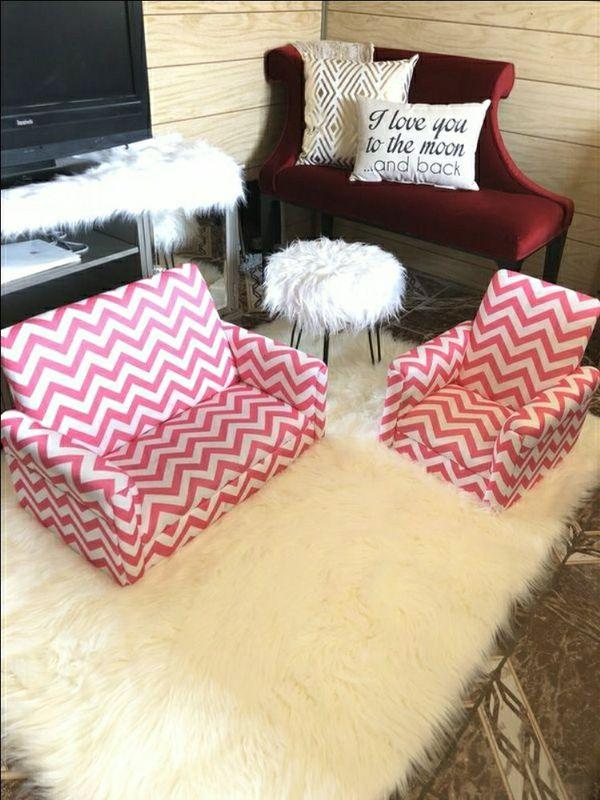 Infants sofa set pink & white WOOD NOT FOAM for Sale in Las Vegas ...