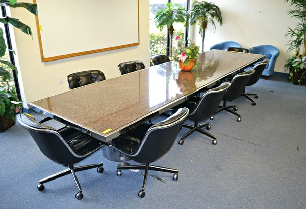 Marble Conference Table Chairs Are Included For Sale In Doral FL - Marble conference table for sale