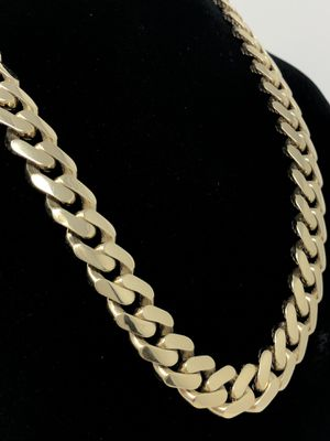 REAL GOLD💫 Ultralight Super strong Miami Cuban Link Chain 💫 for Sale in Kissimmee, FL