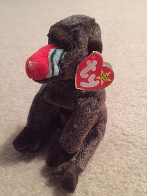 Ty Beanie Baby Cheeks The Baboon, used for sale  Wichita, KS