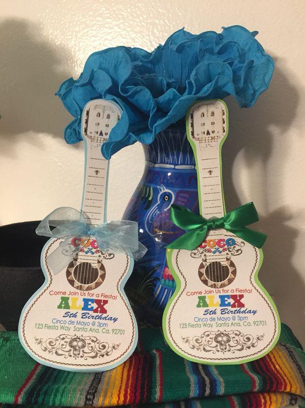coco themed guitar invitations for sale in santa ana  ca