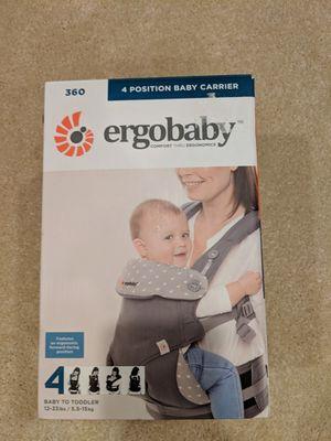 (New) Ergobaby 4 position Baby Carrier Dewy Grey for Sale in Leesburg, VA