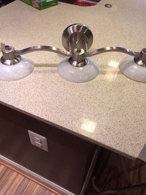 Stainless steel Fixture Triarch 25862-BS Halogen VI Collection 3-Light Vanity for Sale in Rockville, MD