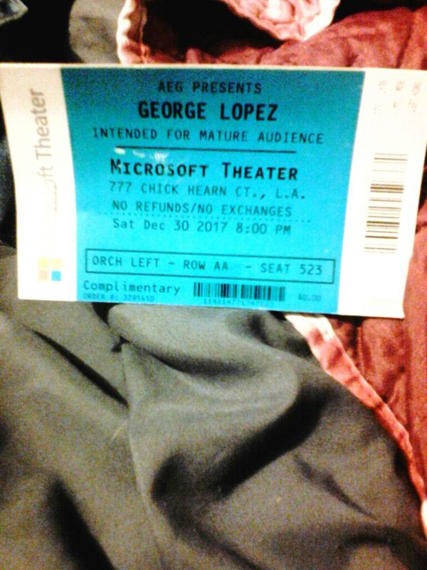 george lopez microsoft theater 2 tickets for sale in long beach ca