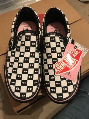 b493b4947c20de Vans checker slides ft. Lazy oaf size men 3.5 (women s 5) for Sale