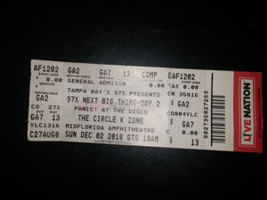 97X NBT TICKET for Sale in Tampa, FL