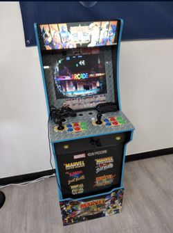 Arcade Cabinet Custom 10000 + Games 60 Console Brand New With Led Marquee And Led Control Pannel .Pc & Keyboard And 1 Controller Thumbnail