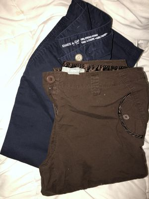 Navy gap pants, Brown NY capris for Sale in Frederick, MD