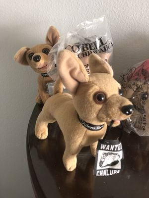 TACO BELL CHIHUAHUAS TOYS NEW IN PACKAGES for Sale in Herndon, VA