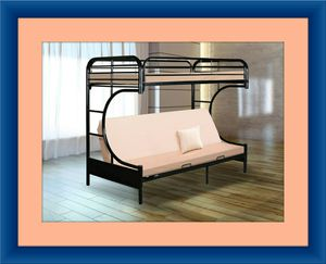 Twin futon bunk bed frame for Sale in Hyattsville, MD