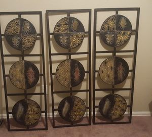 3 Decorative Metal Wall Hangings for Sale in Aurora, CO