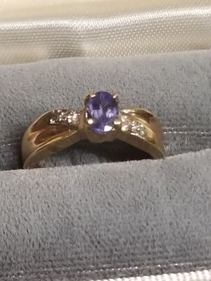 NICE GOLD WITH AMETHYST AND DAIMOND RING for Sale in Springfield, VA