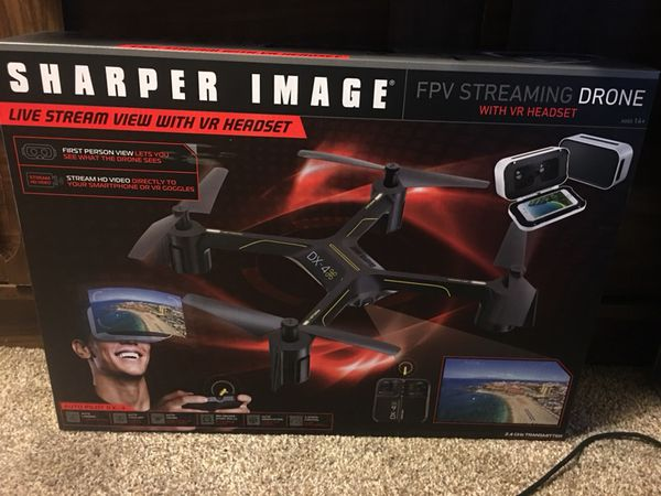 Sharper Image Fpv Streaming Drone W Vr Headset For Sale In