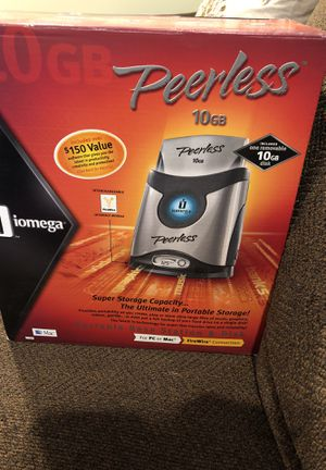 Peerless 10GB Iomega Super Storage Capacity Portable Storage for Sale in New Market, MD