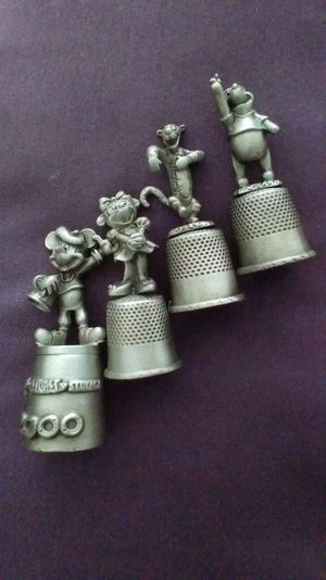 Set of 4 Disney Collectible Thimbles for Sale in Nashville, TN