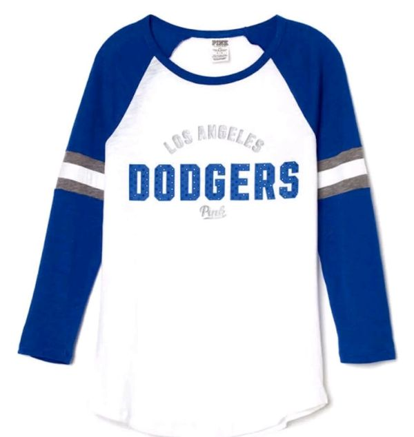 250d1337792ad Victoria s secret PINK los angeles Dodgers bling shirt for Sale in ...