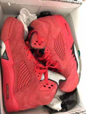 Jordan 5 red suede for Sale in Washington, DC