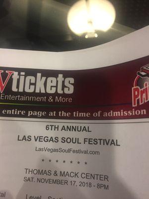 2 Tickets to Las Vegas Soul Festival for Sale in Las Vegas, NV