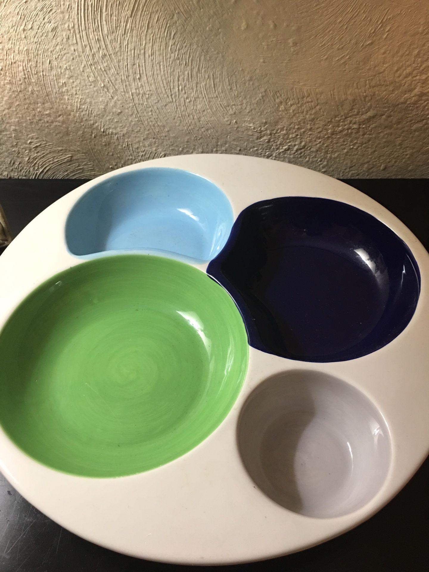 "16"" ceramic serving plate"