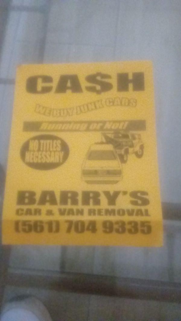 801abaf1fc JUNK CARS VANS WANTED (Cars   Trucks) in Delray Beach