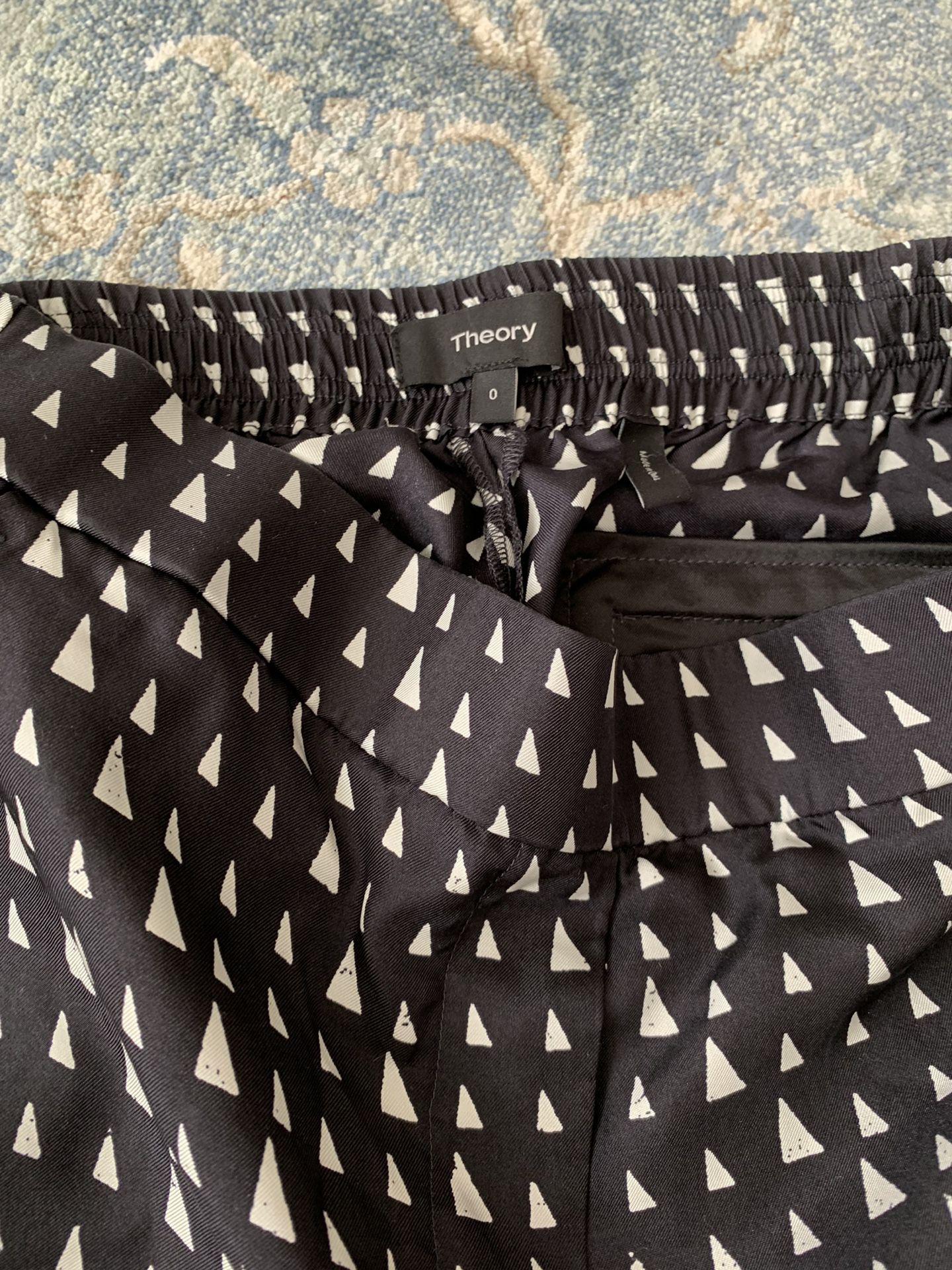 Theory Pants Silk size 0