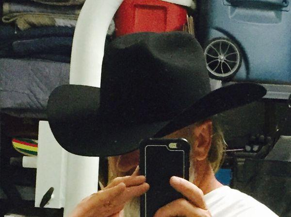 Stetson Apache Black Buffalo Felt Western Cowboy Hat size 75 8 4