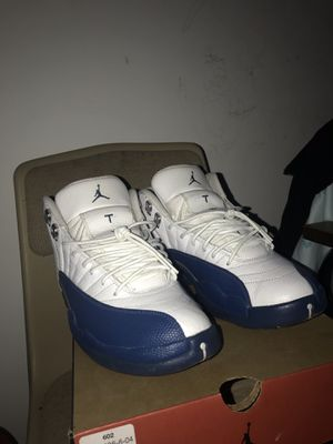 Jordan 12 french blue MUST COME TO ME for Sale in Chillum, MD