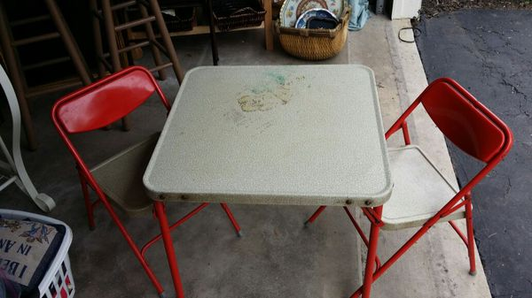 Admirable Vintage Samsonite Childrens Folding Table And Chairs For Pabps2019 Chair Design Images Pabps2019Com