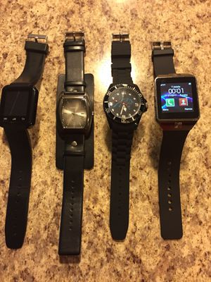LOT 4 CAROLINA PANTHERS FOOTBALL KENNETH COLE UNLISTED HYPE SMART WATCHES $60 NEW Great Deal!!!!!!!! ALL 4 SOLD $60 for Sale in Raleigh, NC
