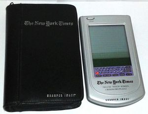 Sharper Image NY Times Crossword Puzzle Electronic Game for Sale in Silver Spring, MD