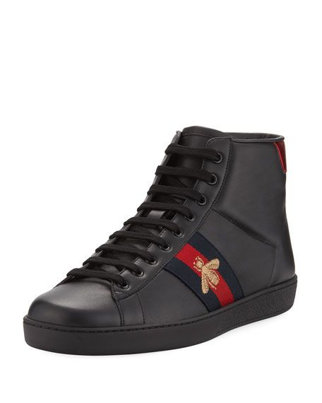 44b8ae6674d New Men s Gucci New Ace high top sneakers Sz 9.5 for Sale in ...