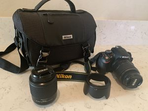 Nikon D3200 Photography Camera plus accessories for Sale in Chandler, AZ