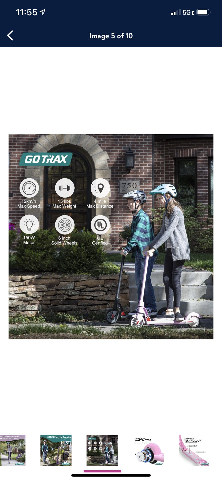 GOTRAX XOOM Electric Scooter with 6inch Wheels