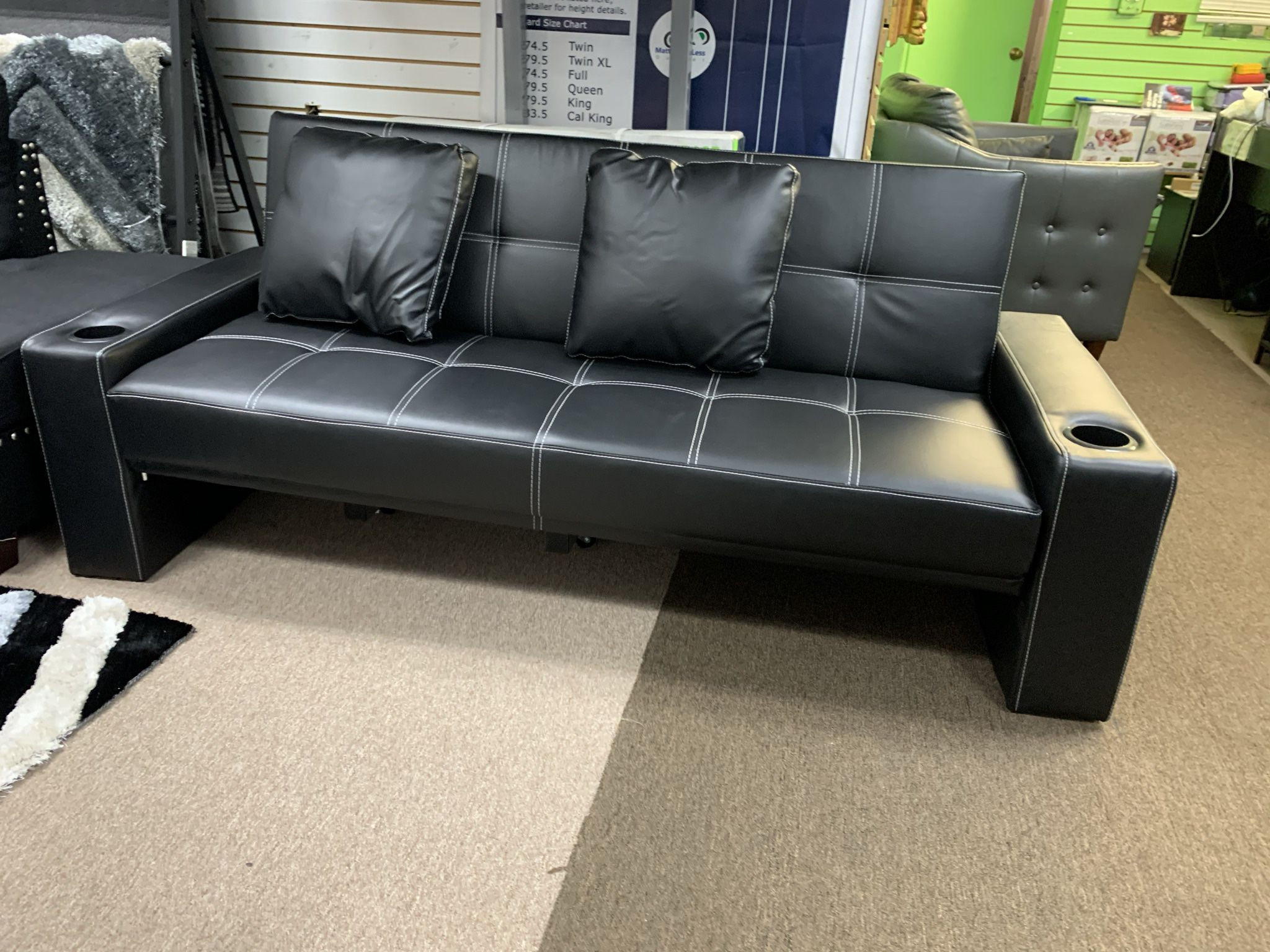 🛌🛋BLOWOUT SALE NOW🔥‼️FUTON SOFA BED PU LEATHER🛋🛌