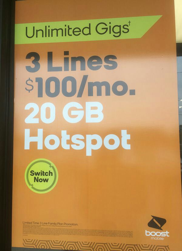 $100 plan Unlimited data talk and text plus 20gigs of mobile hotspot 3  lines for Sale in Virginia Beach, VA - OfferUp