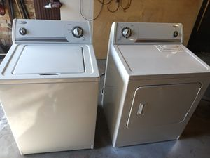 Photo Whirlpool washer and electric dryer $225