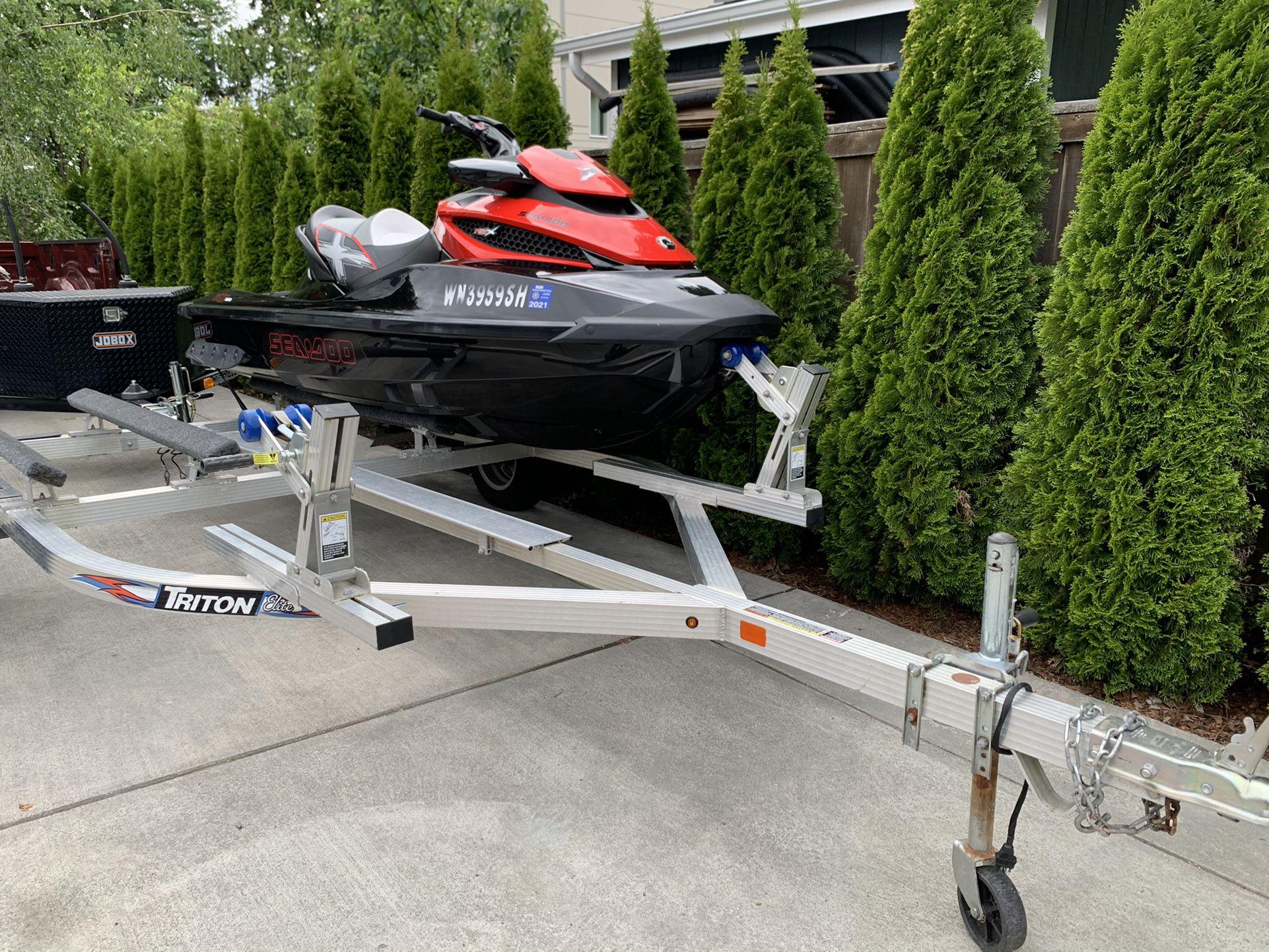 Photo Seadoo Sea Doo Rxt260 Jetski Jet Ski Yamaha Boat Trailer