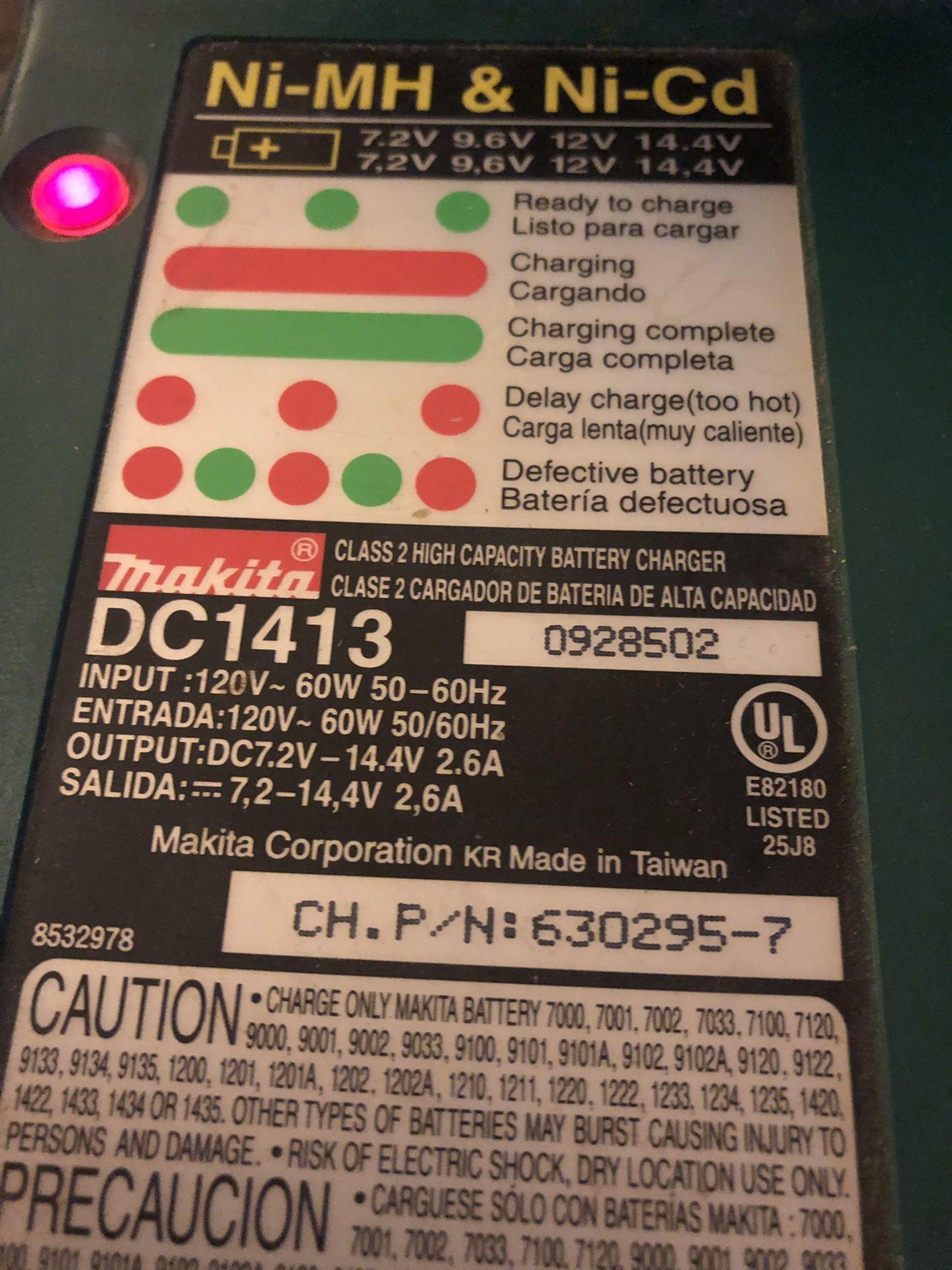 Makita 14.4 Drill, Battery, & Charger
